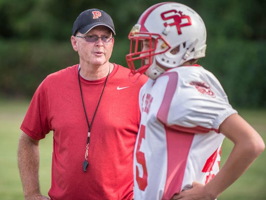St. Philip head coach David Downey during a recent