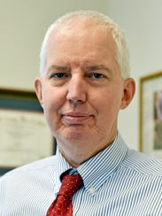 """Common Pleas Judge Craig T. Trebilcock is seen in this file photo at his chambers in the York County Judicial Center. He presided over the trial of McKenzie Reese, 26, of Manchester Township, who was found guilty of delivery of heroin and/or fentanyl and drug delivery resulting in death in Arissa Clymer's fatal overdose, which happened on Aug. 16, 2015. """"Those who are selling heroin and fentanyl are merchants of death. They need to be deterred by strong messaging from the court,"""" Trebilock said at sentencing."""