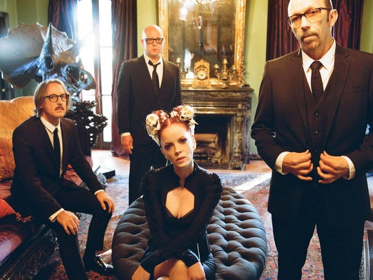 Garbage includes Butch Vig (from left), Steve Marker, Shirley Manson and Duke Erikson.