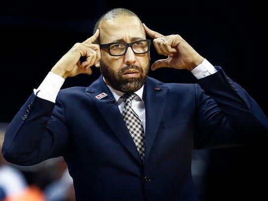 Memphis Grizzlies head coach David Fizdale during fourth