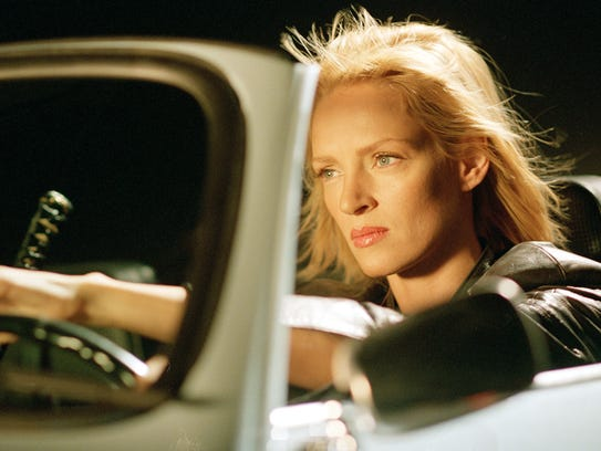 Uma Thurman behind the wheel in 'Kill Bill: Vol. 2.'