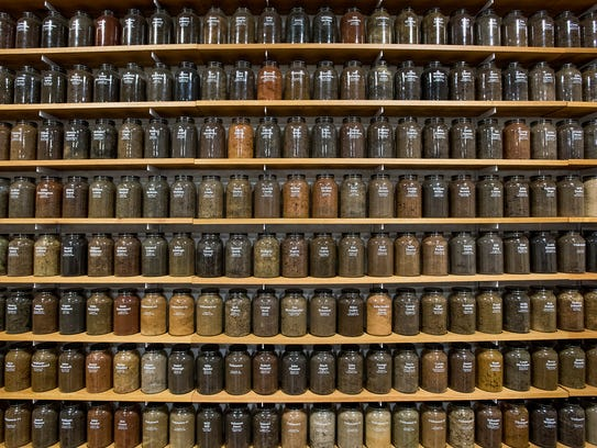 Jars of dirt collected from lynching sites across the