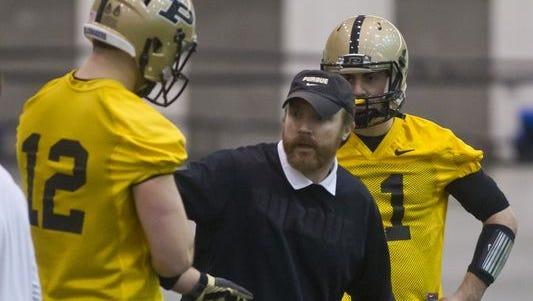 Purdue offensive coordinator John Shoop