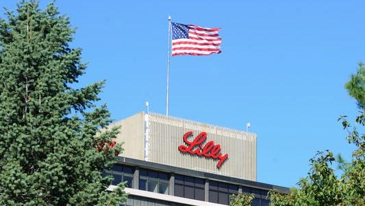 Eli Lilly Co. corporate headquarters at Delaware and McCarty streets in Indianapolis.