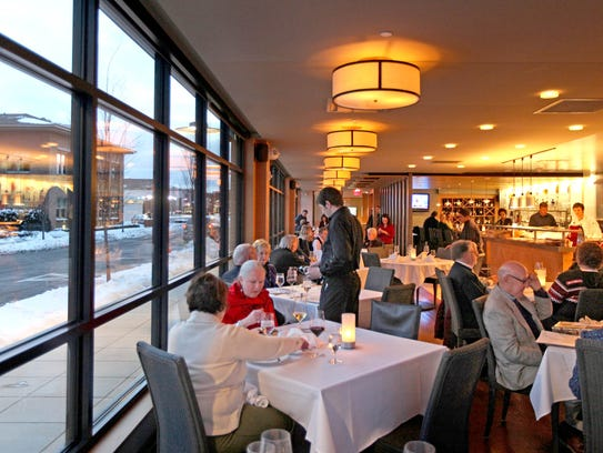 The main dining room at Forest Grill restaurant in