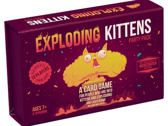 The Exploding Kittens game.