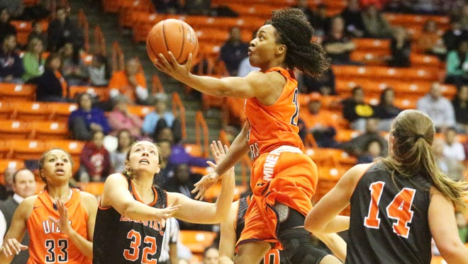 UTEP guard Jenzel Nash, 24, goes airborne during a drive to the basket against Idaho State. Nash was named to first team All Conference-USA on Sunday.