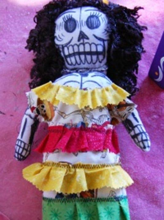 Day of the Dead La Dama rag doll