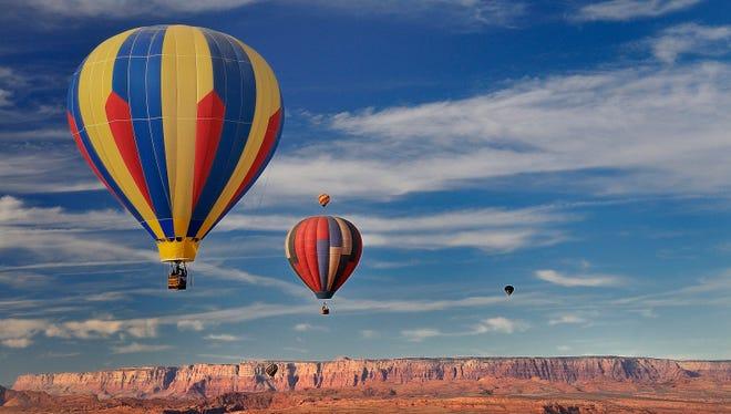 Hot air balloons at the annual Page Lake Powell Hot Air Balloon Regatta.