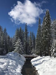 In this file photo, snow covers the ground at Kings Canyon National Park.