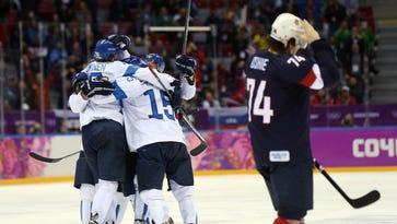 Men's hockey bronze medal game: USA vs. Finland