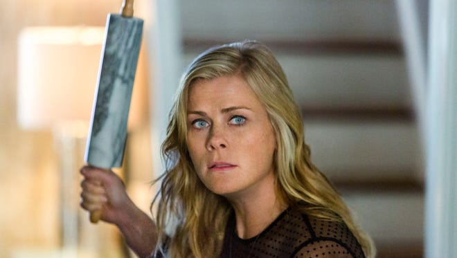 "Alison Sweeney in the Hallmark Movie Channel movie ""Murder She Baked: A Chocolate Chip Cookie Murder Mystery"""
