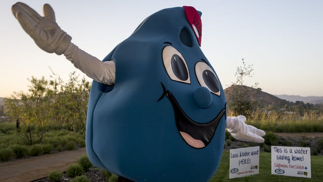 Little Drop greets attendees in August during a Water Conservation Summit at the Agoura Hills Rec Center. The California community has a mandate to reduce water consumption by 36 percent.