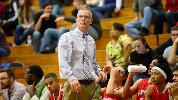 Erwin boys basketball coach David Rhoney has resigned.