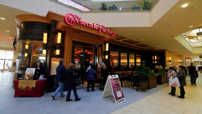 The mall entrance to The Cheesecake Factory during a behind-the-scenes tour of The Cheesecake Factory's newest location at the Rockaway Townsquare Mall in Rockaway Township, NJ Wednesday, December 14, 2017.