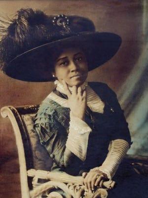 Ella M. Jones, circa 1914, when she attended Professor Rohrer's Institute of Beauty Culture in New York.