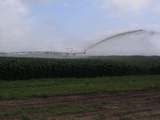 Manure spraying on a farm in Wisconsin.