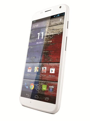 The Google Moto X smartphone.
