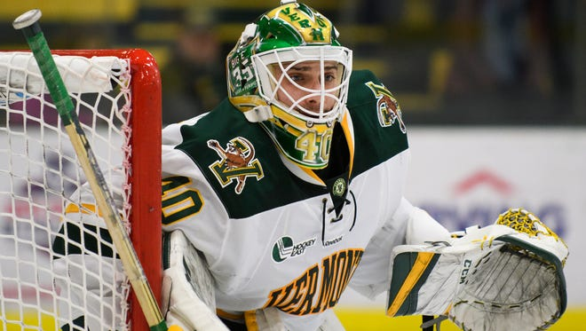 Goalie Stef Lekkas and the University of Vermont men's hockey team bested No. 4 Michigan 5-2 on opening night Saturday.