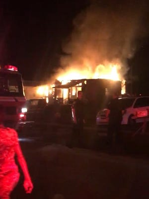 Fire breaks out at abandoned home in Mims.