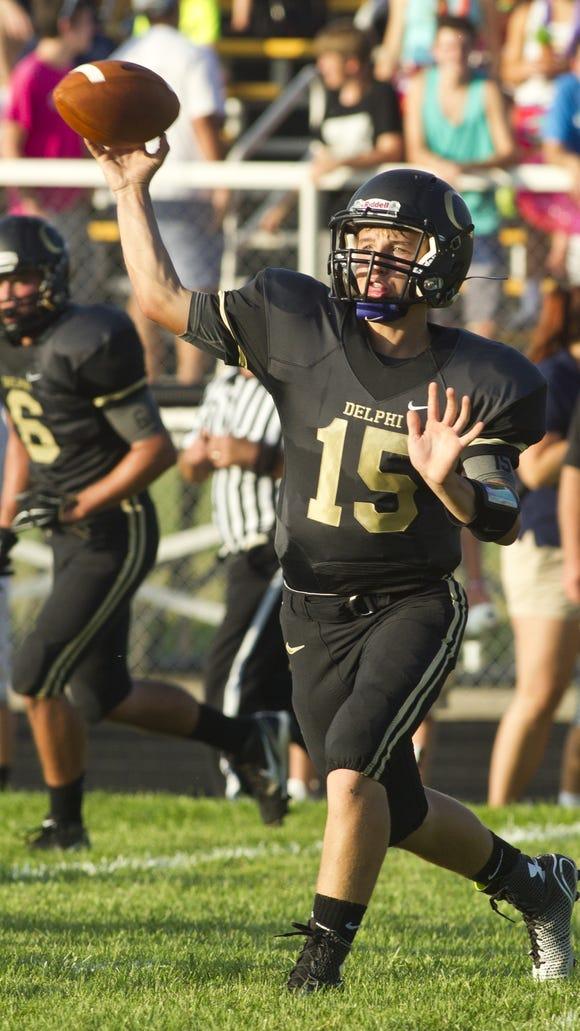 Delphi quarterback Weston Windell.