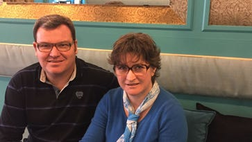 Laurent and Catherine Degois, who will open Chez Renee French Bistrot in Milford.