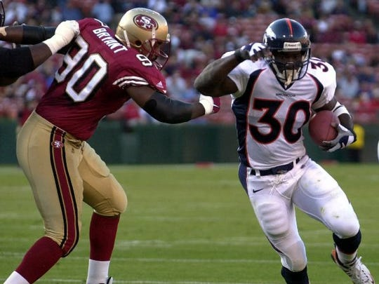 Former Denver Broncos running back Terrell Davis is a finalist for the Pro Football Hall of Fame. The inductees will be announced before the Super Bowl.