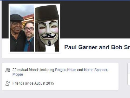 "A screen shot from Facebook shows ""Bob Smith"" was friends with Paul Garner, an activist who was one of the original plaintiffs in the ACLU lawsuit. Activists contend the ""Bob Smith"" account was controlled by Memphis police to gather information on their activities. This image and many similar ones come from court records."