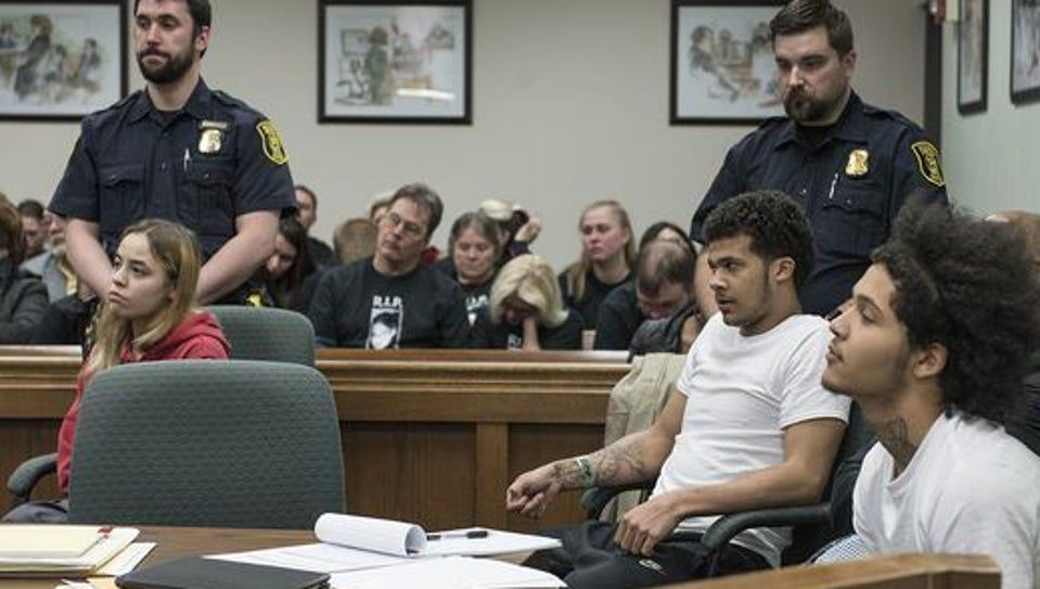 The three defendents, Amber Marie Tackett, Dominik