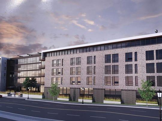 Rending of High Pointe apartments in Sheboygan.