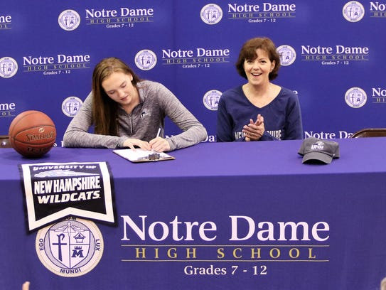 Notre Dame senior Mary Foster signs to play basketball