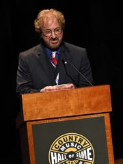 Duane Allen of The Oak Ridge Boys gives his speech during The Country Music Hall of Fame 2015 Medallion Ceremony.