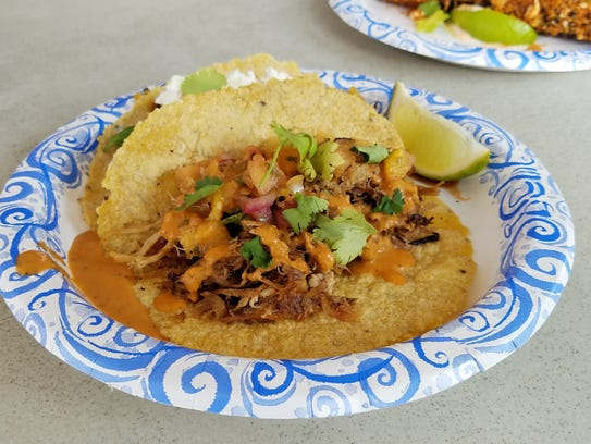 The acorn squash taco at the Heritage Taco trailer comes with a to-die-for mojo de ajo.