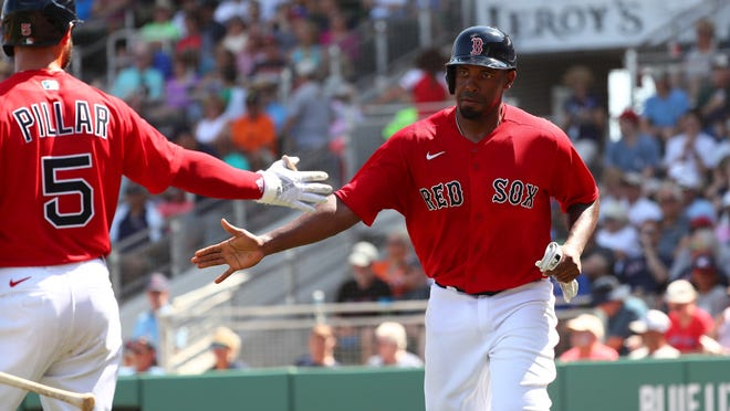 The Red Sox agreed to a one-year deal with minor leaguer Josh Ockimey and four others from the club's alternate site this past summer.
