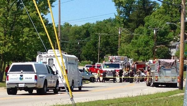 AirCare was called to the scene of a head-on crash on Rapid Run in Delhi Township Friday.