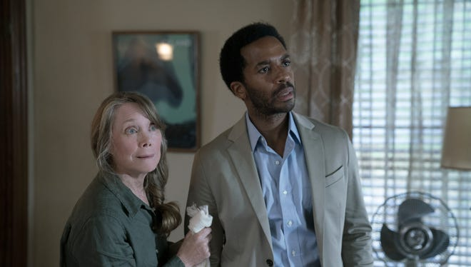 "Henry Deaver (Andre Holland) returns to town, and his mom, Ruth, (Sissy Spacek), after years away in ""Castle Rock."""