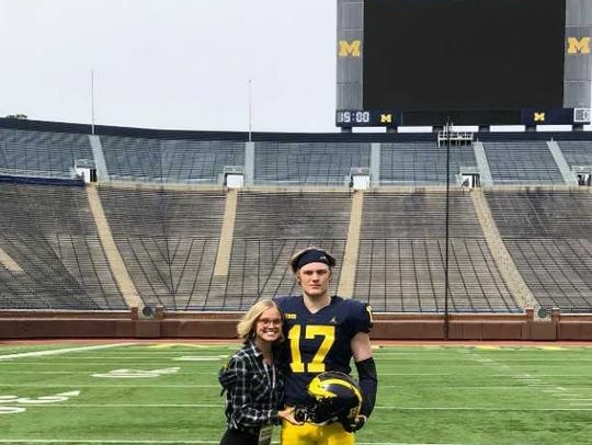 Braiden McGregor visits the University of Michigan