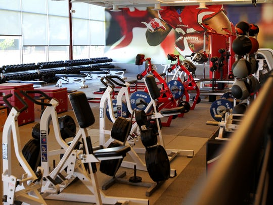 The Arizona Cardinals' renovated weight room and training