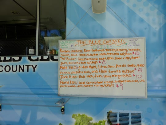 Menu outside of Boys & Girls Club's Blue CanTEEN on