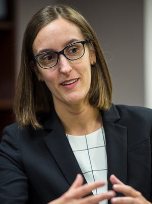 New Assistant U.S. Attorney Julia Torti at the Department of Justice offices in Burlington on Thursday, December 1, 2016.