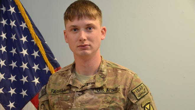 Sergeant Shawn Farrell, of Accord, is pictured in this undated photo provided by the U.S. Army. Farrell was killed in action in Nejrab District, Kapisa province, Afghanistan on April 28, 2014.