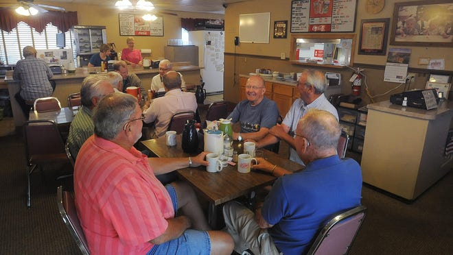 Customers pack Rosie's for breakfast on Tuesday, June 30, 2015.
