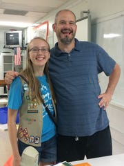 Laurel Zeigler earned her Girl Scout Gold Award, the highest award in Girl Scouting. She is a member of Troop 30226, a senior at Owen High School,  and created a comic book to teach children about math, making it more fun and relatable for them. Her math advisor, Robert Aiken, will be using this book as part of his teaching tools in the future.