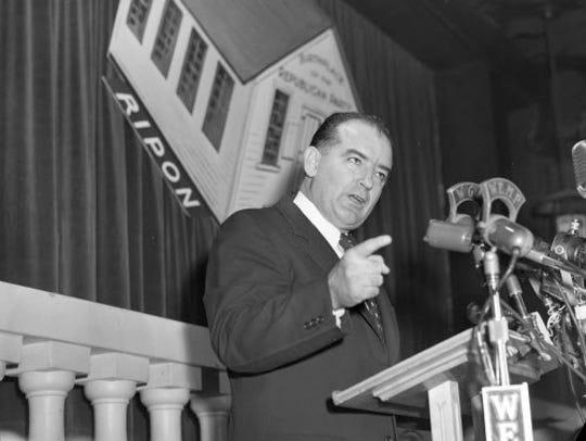 Sen. Joseph R. McCarthy speaks at the Milwaukee County