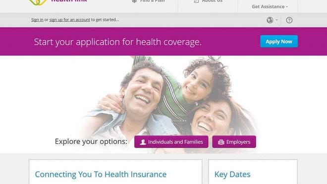 The Nevada Health Link website is shown in this screenshot.