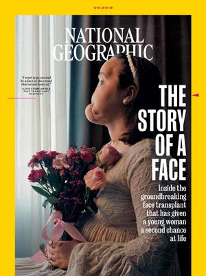 The cover of National Geographic's September issue featuring Katie Stubblefield.