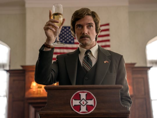 "Topher Grace plays David Duke in ""BlacKkKlansman."""