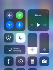 New Control Center in iOS 11.