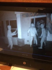 Hooded food vandal suspects are caught on a trail camera