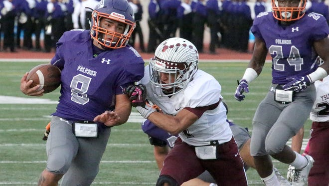 Eastlake running back Adrian Chavez in action against Ysleta Friday at the Socorro Activities Complex.